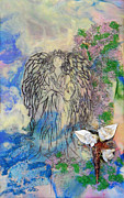 Guides Mixed Media - Angels Within Us by Sally Clark