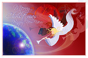 Christmas Cards Digital Art - Angelus by Nato  Gomes