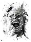 People Digital Art Prints - Anger Print by Balazs Solti