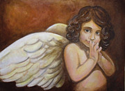 Innocent Angels Digital Art - Anghel en brunaille by Dindin Coscolluela