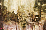 Village Paintings - Angkor by Catf