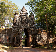 Angkor Thom Prints - Angkor Thom North Gate 02 Print by Rick Piper Photography