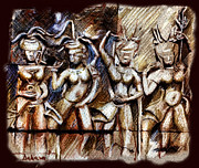 Angkor Wat - Apsara Print by Daliana Pacuraru