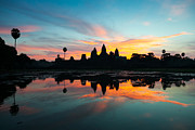 Cambodia Photos - Angkor Wat at Sunrise by Fototrav Print