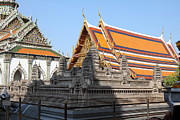 Angkor Prints - Angkor Wat model - Grand Palace in Bangkok Thailand - 01131 Print by DC Photographer