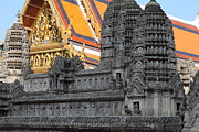 Model Metal Prints - Angkor Wat model - Grand Palace in Bangkok Thailand - 01132 Metal Print by DC Photographer
