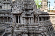 Model Metal Prints - Angkor Wat model - Grand Palace in Bangkok Thailand - 01133 Metal Print by DC Photographer