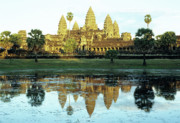Angkor Prints - Angkor Wat Reflections 01 Print by Rick Piper Photography