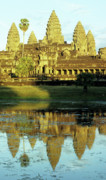 Angkor Prints - Angkor Wat Reflections 02 Print by Rick Piper Photography