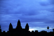 Silhouetted Metal Prints - Angkor Wat Sunrise 01 Metal Print by Rick Piper Photography