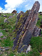 Lichen Pictures Posters - Angled Rocks with Lichen Poster by Tranquil Light  Photography