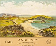 Picturesque Painting Posters - Anglesey Poster by Henry John Yeend King