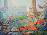 Princess Pastels Posters - Angling for a Prince Poster by Robin Coats