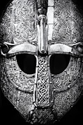 Tim Posters - Anglo Saxon Helmet Poster by Tim Gainey