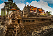 Angor Wat Miniature Print by Inge Johnsson
