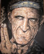 Keith Richards Painting Originals - Angry by John Sodja