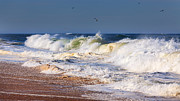 Beach Scenery Prints - Angry Sea Print by Bill  Wakeley