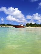 Anguilla Mr. Teds Boat Print by Jennifer Lamanca Kaufman