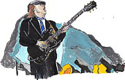 Ac Paintings - Angus Young by Dana Smith
