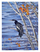 Anhinga Paintings - Anhinga by Jim Melton