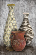 Animal Print Vase Still Life-c Print by Jean Plout