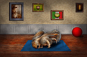 Exercise Framed Prints - Animal - Squirrel - And stretch Two Three Four Framed Print by Mike Savad