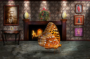Fireplace Framed Prints - Animal - The Butterfly Framed Print by Mike Savad