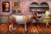 Bedroom Photo Prints - Animal - The Pony Print by Mike Savad