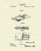 Mice Drawings Posters - Animal Trap 1894 Patent Art Poster by Prior Art Design