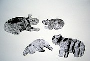 E Black Drawings Prints - Animal World 120721-5 Print by Aquira Kusume
