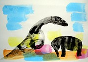 Dinosaur Drawings Originals - Animal World 130222-5 by Aquira Kusume
