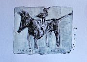 Outsider Art Painting Prints - ANIMALIA Canis No. 3 Print by Mark M  Mellon