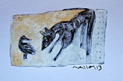 Outsider Art Painting Prints - ANIMALIA Canis No. 4 Print by Mark M  Mellon