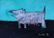 Puppy Mixed Media Originals - Animalia Canis no. 7  by Mark M  Mellon