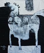 Abstract Horse Prints - ANIMALIA  Equos No 4 Print by Mark M  Mellon