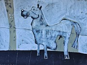 Animal Mixed Media Metal Prints - ANIMALIA Equos No.7  Metal Print by Mark M  Mellon