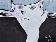 Abstract Cat Prints - ANIMALIA Feles No. 5 Print by Mark M  Mellon