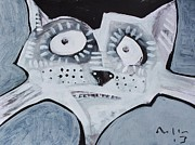 White Cat Art Mixed Media - ANIMALIA Feles No. 6 by Mark M  Mellon
