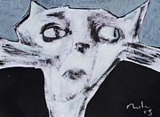 Abstract Cat Prints - ANIMALIA Feles No. 9  Print by Mark M  Mellon