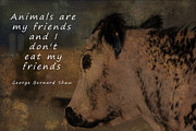Forbidden Planet Prints - Animals Are My Friends Print by Janice Rae Pariza