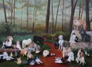 Cecilia Brendel Art - Animals Living In Harmony by Cecilia  Brendel