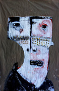Faces Mixed Media Prints - Animus No 1 Print by Mark M  Mellon