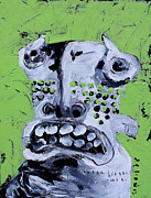Lime Green Mixed Media Posters - Animus No 10 Poster by Mark M  Mellon