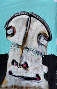 Outsider Art Mixed Media Metal Prints - Animus No 11 Metal Print by Mark M  Mellon