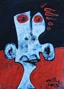 Outsider Art Mixed Media - Animus no 25 by Mark M  Mellon