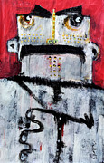 Abstract Expressionist Metal Prints - Animus No 3 Metal Print by Mark M  Mellon