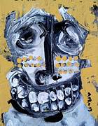 Smile Painting Metal Prints - Animus No 8 Metal Print by Mark M  Mellon