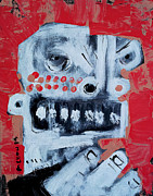 Red Art Mixed Media Prints - Animus No 9 Print by Mark M  Mellon