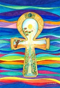Nile Paintings - ANKH - The Key of Life by Gloria Di Simone