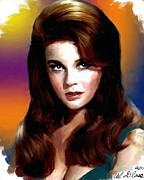 Allen Glass Framed Prints - Ann Margret Framed Print by Allen Glass